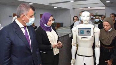 """Photo of """"شمس"""" أول ممرضة روبوت بمصر"""
